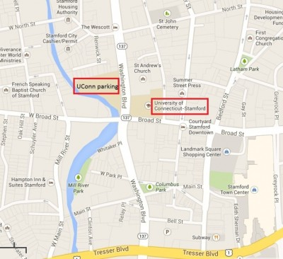 UConn Stamford Map
